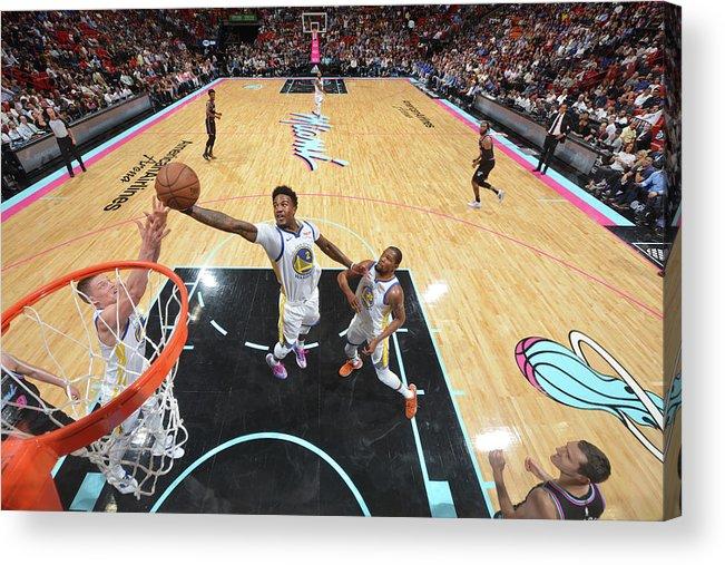 Nba Pro Basketball Acrylic Print featuring the photograph Jordan Bell by Jesse D. Garrabrant