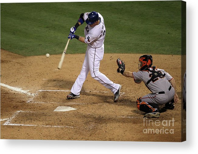 People Acrylic Print featuring the photograph Josh Hamilton by Stephen Dunn