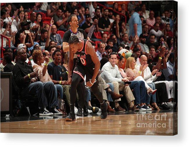 Nba Pro Basketball Acrylic Print featuring the photograph Josh Richardson by Issac Baldizon