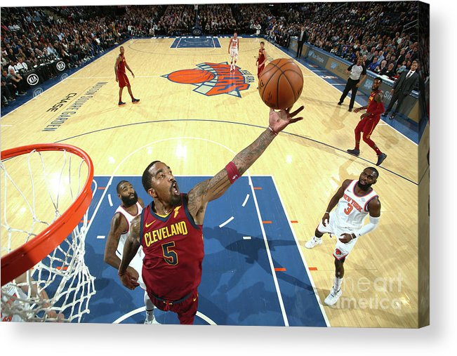 Nba Pro Basketball Acrylic Print featuring the photograph J.r. Smith by Nathaniel S. Butler