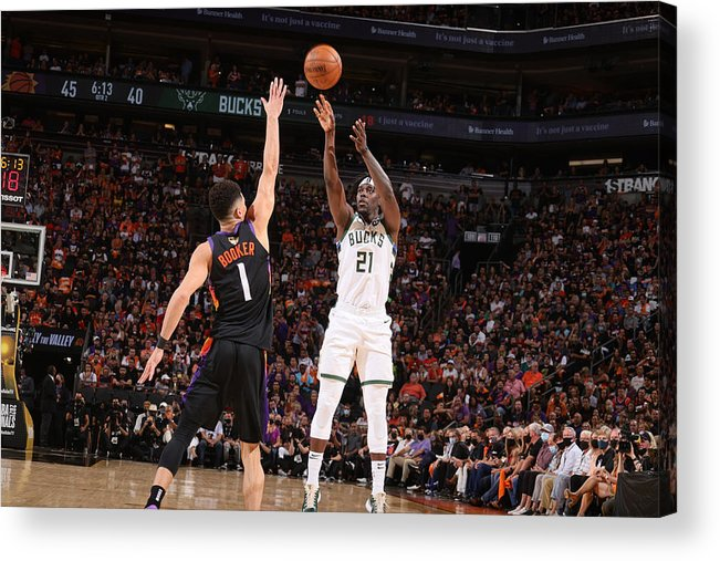 Playoffs Acrylic Print featuring the photograph Jrue Holiday by Nathaniel S. Butler