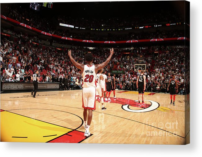 Justise Winslow Acrylic Print featuring the photograph Justise Winslow by Issac Baldizon