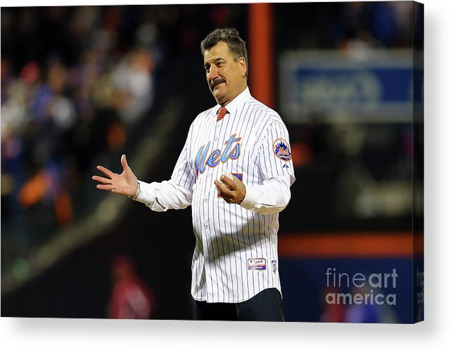 Three Quarter Length Acrylic Print featuring the photograph Keith Hernandez by Elsa