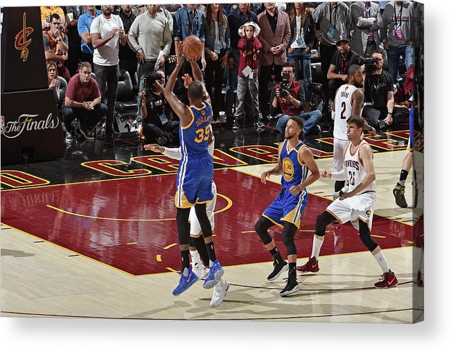 Playoffs Acrylic Print featuring the photograph Kevin Durant by David Liam Kyle