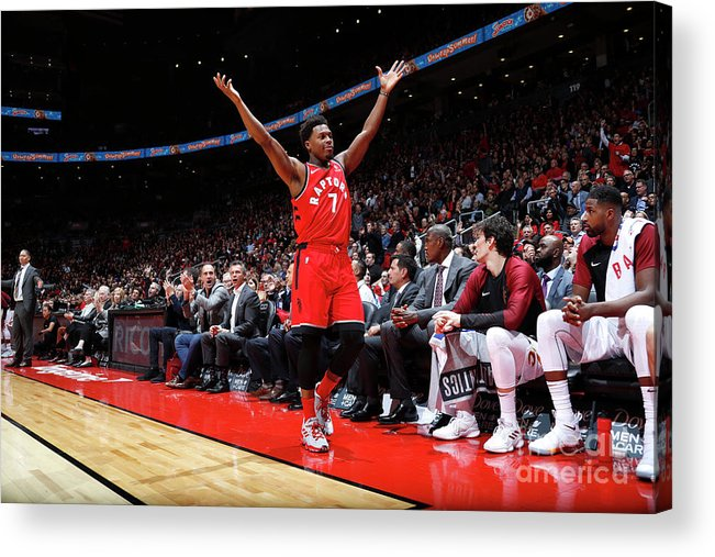 Nba Pro Basketball Acrylic Print featuring the photograph Kyle Lowry by Mark Blinch