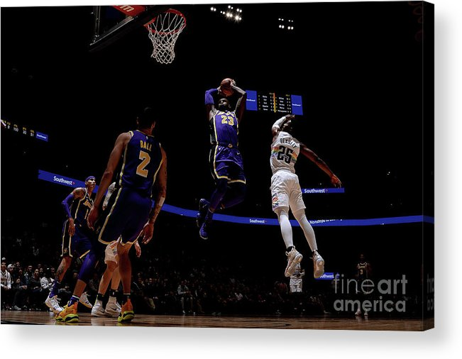 Nba Pro Basketball Acrylic Print featuring the photograph Lebron James by Bart Young