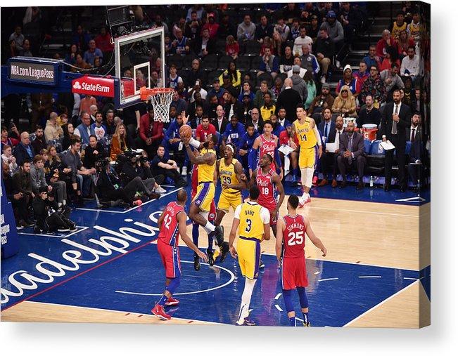 Nba Pro Basketball Acrylic Print featuring the photograph Lebron James by David Dow
