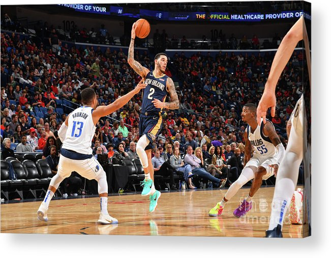 Smoothie King Center Acrylic Print featuring the photograph Lonzo Ball by Jesse D. Garrabrant