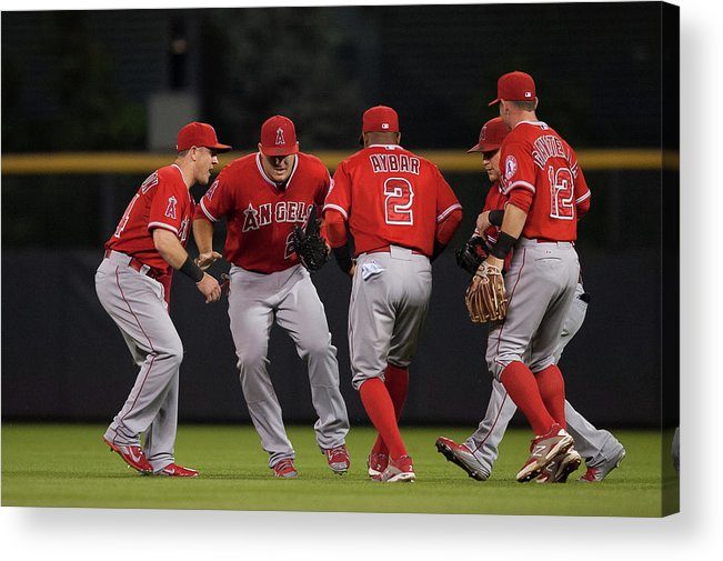 People Acrylic Print featuring the photograph Los Angeles Angels Of Anaheim V by Dustin Bradford