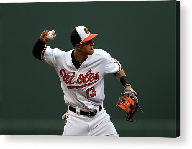 Three Quarter Length Acrylic Print featuring the photograph Manny Machado by Patrick Smith