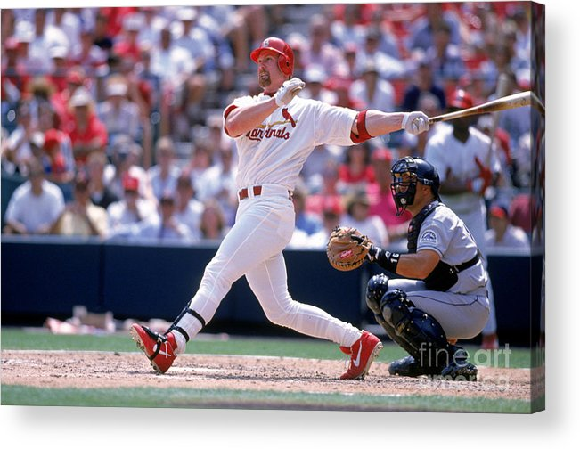 Following Acrylic Print featuring the photograph Mark Mcgwire by Ron Vesely