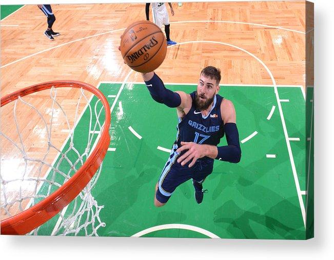 Nba Pro Basketball Acrylic Print featuring the photograph Memphis Grizzlies v Boston Celtics by Brian Babineau