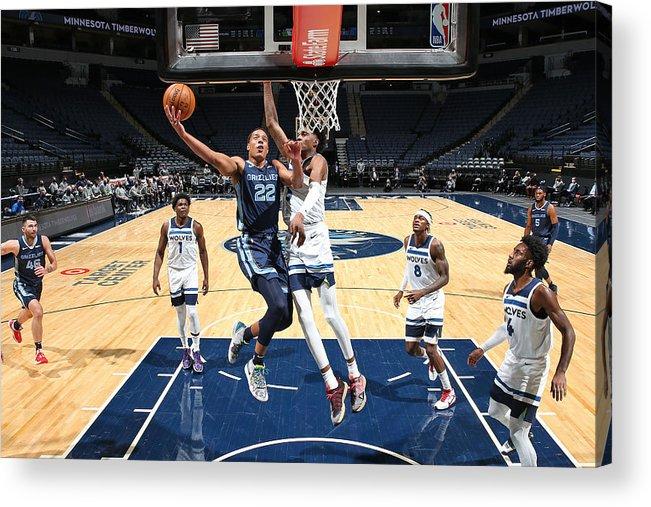 Nba Pro Basketball Acrylic Print featuring the photograph Memphis Grizzlies v Minnesota Timberwolves by David Sherman