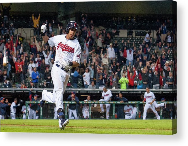 American League Baseball Acrylic Print featuring the photograph Michael Brantley by Jason Miller