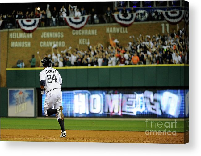 People Acrylic Print featuring the photograph Miguel Cabrera by Kevork Djansezian