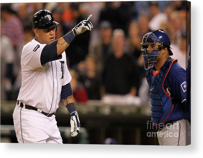 People Acrylic Print featuring the photograph Miguel Cabrera by Leon Halip