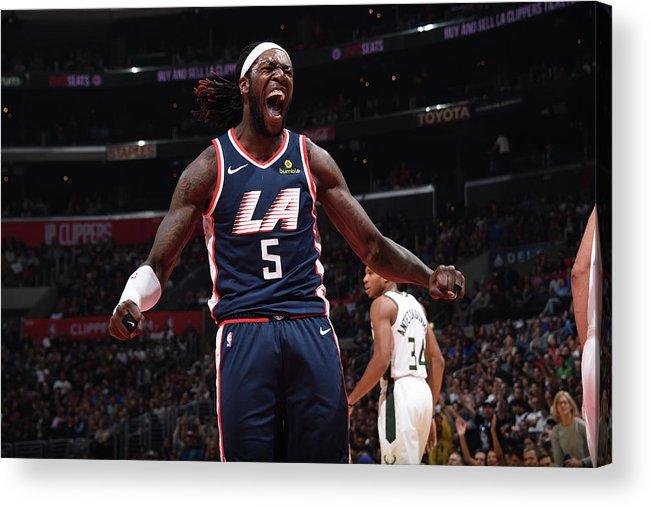 Nba Pro Basketball Acrylic Print featuring the photograph Montrezl Harrell by Adam Pantozzi