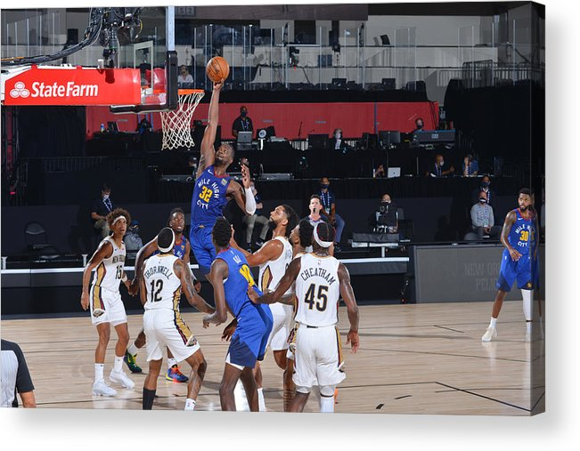 Nba Pro Basketball Acrylic Print featuring the photograph Noah Vonleh by Garrett Ellwood