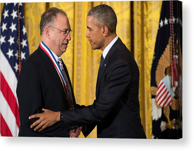 People Acrylic Print featuring the photograph President Obama Awards National Medals Of Science And Nat'l Medals Of Technology And Innovation by Drew Angerer