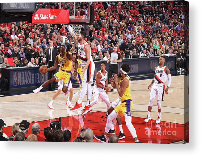 Nba Pro Basketball Acrylic Print featuring the photograph Rajon Rondo by Andrew D. Bernstein