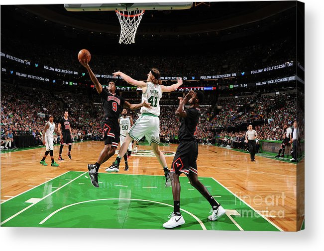 Playoffs Acrylic Print featuring the photograph Rajon Rondo by Brian Babineau
