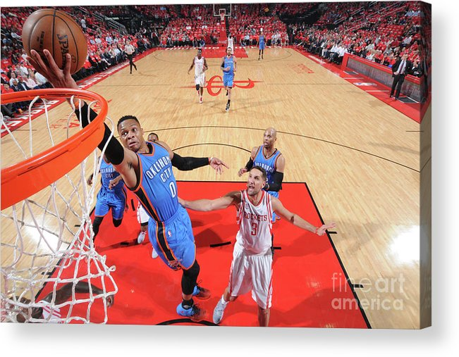 Playoffs Acrylic Print featuring the photograph Russell Westbrook by Bill Baptist