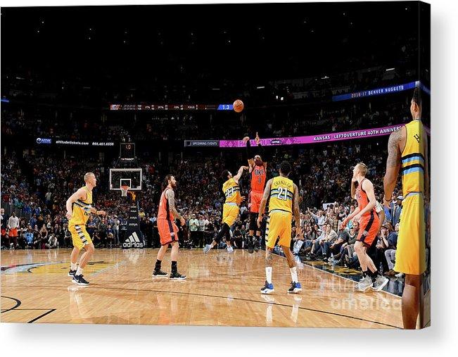 Nba Pro Basketball Acrylic Print featuring the photograph Russell Westbrook by Garrett Ellwood