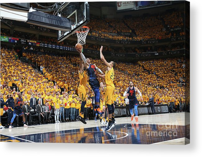 Playoffs Acrylic Print featuring the photograph Russell Westbrook by Melissa Majchrzak