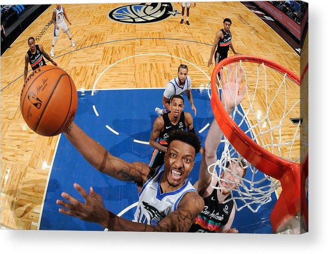 Nba Pro Basketball Acrylic Print featuring the photograph San Antonio Spurs v Orlando Magic by Fernando Medina