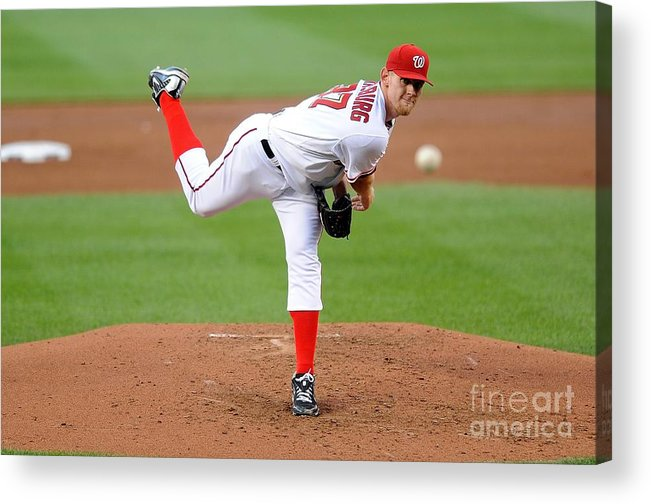 Stephen Strasburg Acrylic Print featuring the photograph Stephen Strasburg by G Fiume
