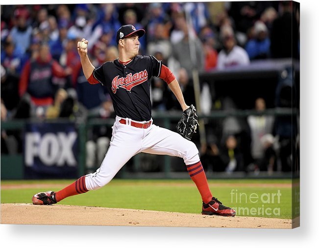 Game Two Acrylic Print featuring the photograph Trevor Bauer by Jason Miller