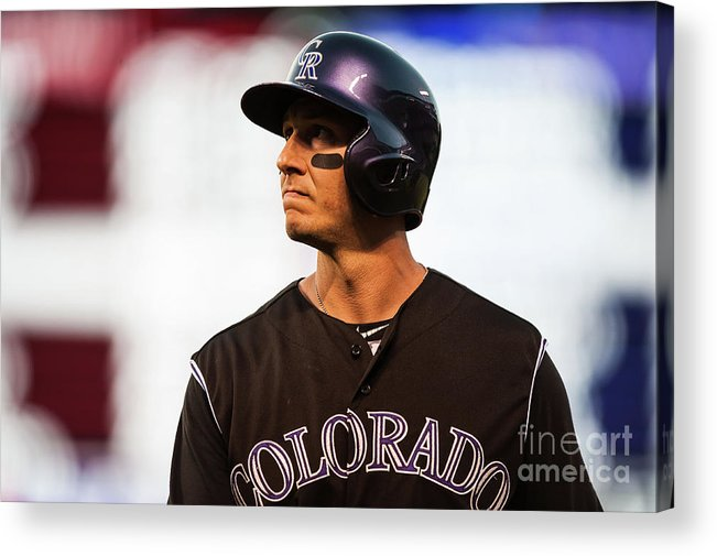 People Acrylic Print featuring the photograph Troy Tulowitzki by Dustin Bradford