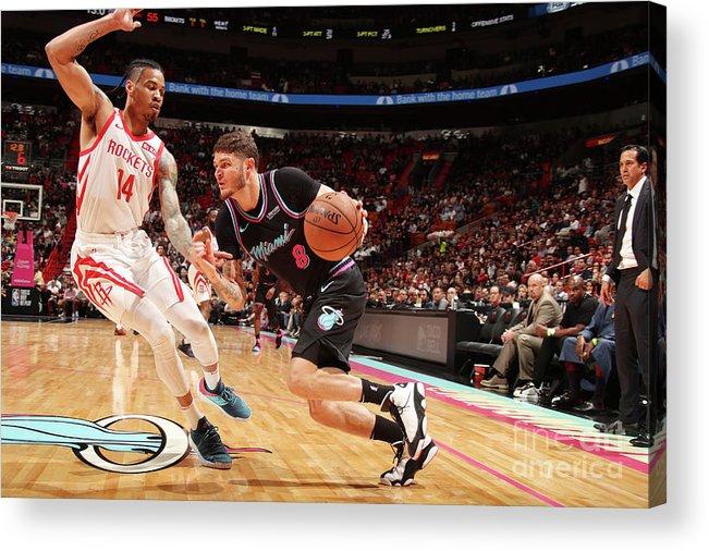 Nba Pro Basketball Acrylic Print featuring the photograph Tyler Johnson by Issac Baldizon