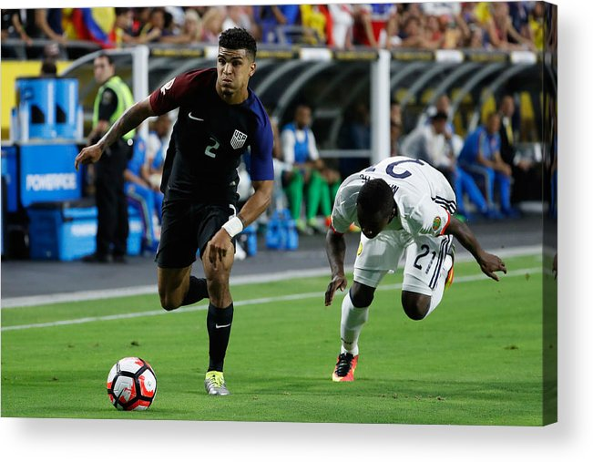 People Acrylic Print featuring the photograph United States v Columbia: Third Place - Copa America Centenario by Christian Petersen
