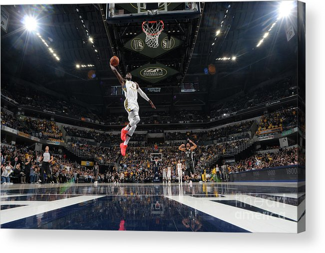 Nba Pro Basketball Acrylic Print featuring the photograph Victor Oladipo by Ron Hoskins