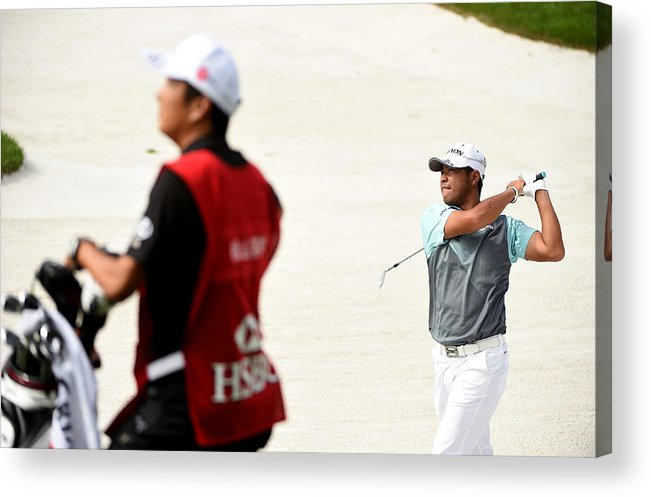 Three Quarter Length Acrylic Print featuring the photograph WGC - HSBC Champions: Day Two by Ross Kinnaird