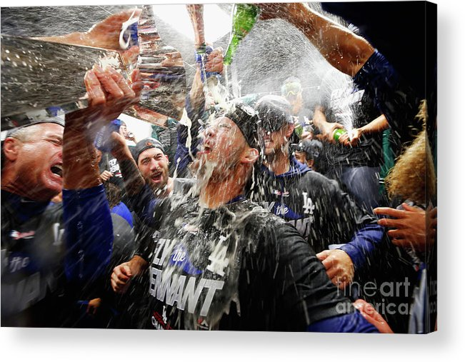 Championship Acrylic Print featuring the photograph Yasmani Grandal by Jamie Squire