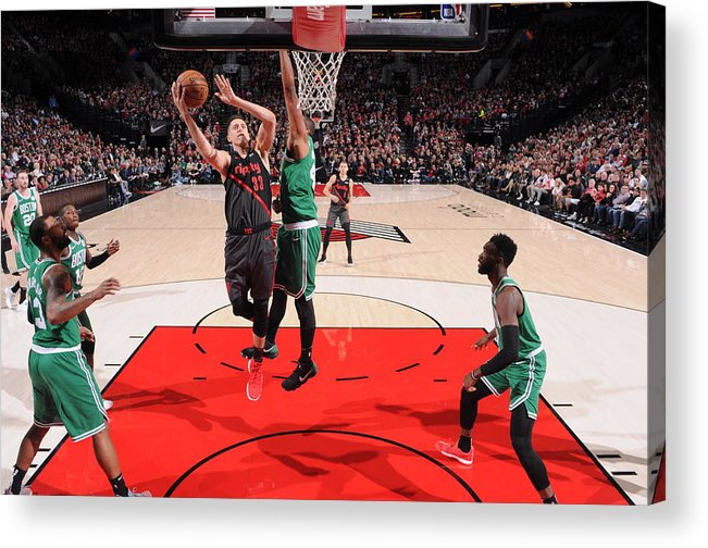 Nba Pro Basketball Acrylic Print featuring the photograph Zach Collins by Sam Forencich
