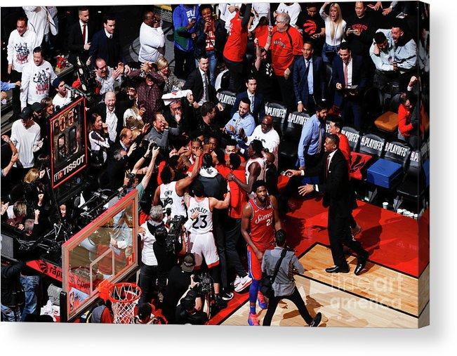 Playoffs Acrylic Print featuring the photograph Kawhi Leonard by Mark Blinch