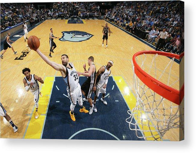 Playoffs Acrylic Print featuring the photograph Marc Gasol by Joe Murphy