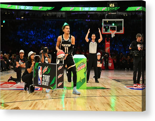 Nba Pro Basketball Acrylic Print featuring the photograph 2020 NBA All-Star - MTN DEW 3-Point Contest by Jesse D. Garrabrant