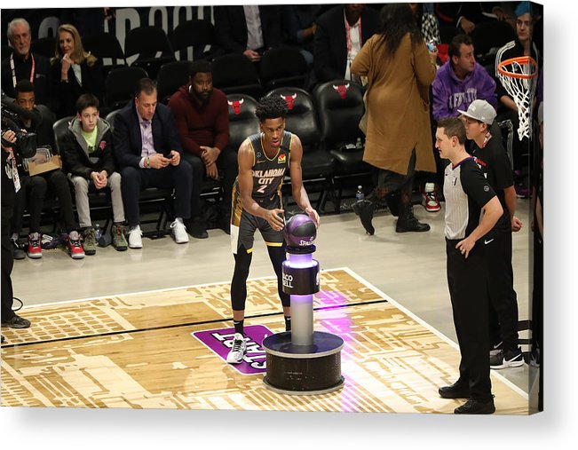Nba Pro Basketball Acrylic Print featuring the photograph 2020 NBA All-Star - Taco Bell Skills Challenge by Joe Murphy