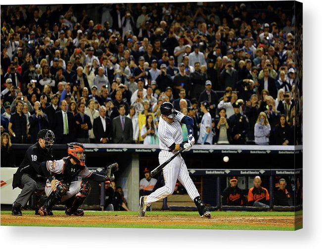American League Baseball Acrylic Print featuring the photograph Derek Jeter by Al Bello