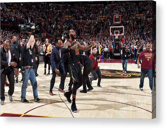 Playoffs Acrylic Print featuring the photograph Lebron James by David Liam Kyle