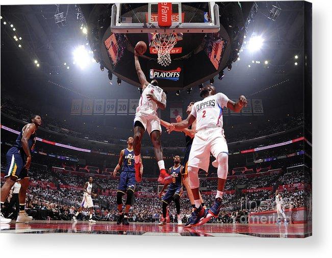 Playoffs Acrylic Print featuring the photograph Deandre Jordan by Andrew D. Bernstein