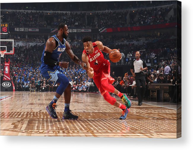 Nba Pro Basketball Acrylic Print featuring the photograph Giannis Antetokounmpo by Nathaniel S. Butler