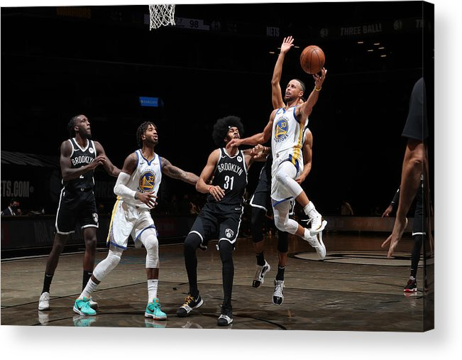 Nba Pro Basketball Acrylic Print featuring the photograph Stephen Curry by Nathaniel S. Butler