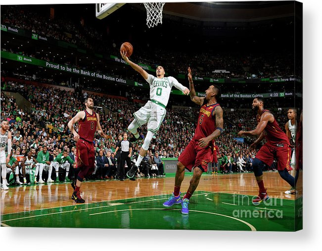 Playoffs Acrylic Print featuring the photograph Jayson Tatum by Brian Babineau