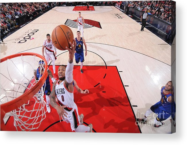 Event Acrylic Print featuring the photograph Damian Lillard by Sam Forencich