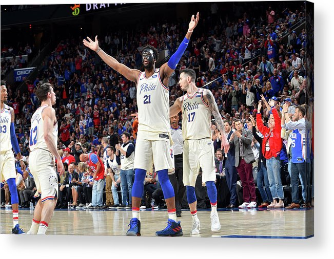 Playoffs Acrylic Print featuring the photograph Joel Embiid by Jesse D. Garrabrant